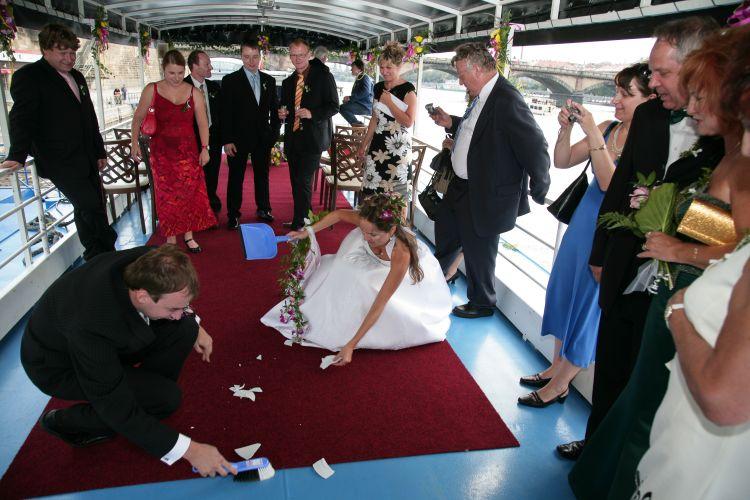 Wedding ceremony on top deck