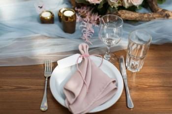 Svatební servis růžový